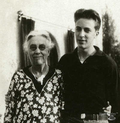 Photo of Hugh Nibley with his grandmother Margaret Reid Sloan